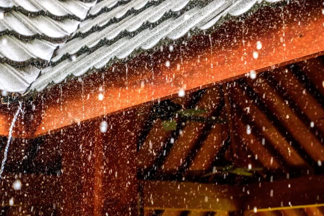 One major benefit of metal roofing is that it sheds rain and snow for crazy weather in Fort Wayne, IN.