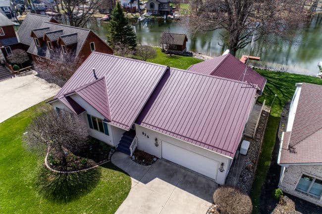 A homeowner in Fort Wayne, IN reaping the benefits of metal roofing.