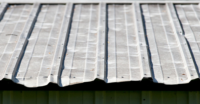 Thin and soft metal roofing can be dented due to hailstorm.