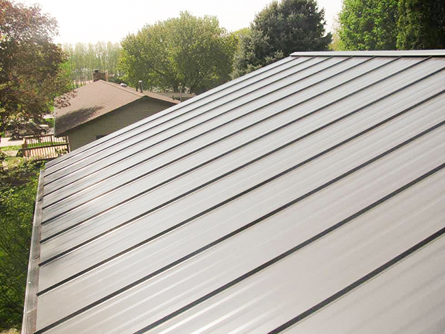 Hidden fastener metal roofing gives a clean look to your home.