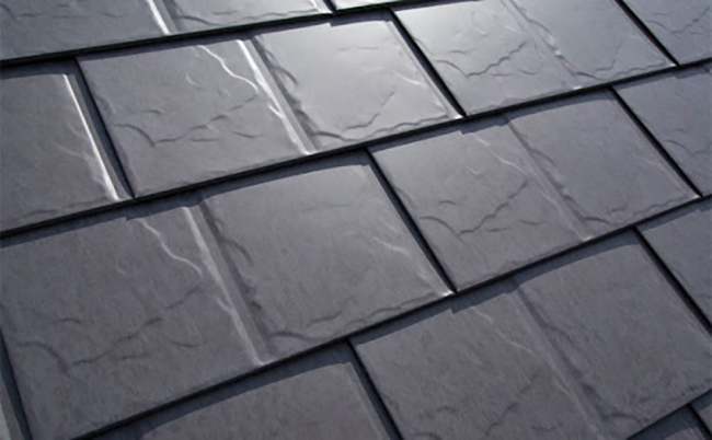 Slate metal panels give your roof a traditional slate design.