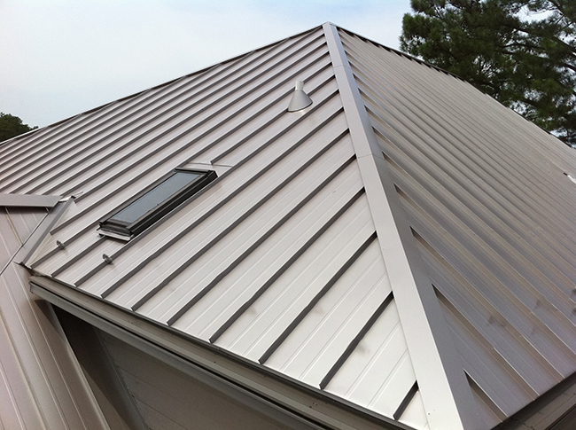 Standing seam metal roofing gives a modern and classic look to your home.